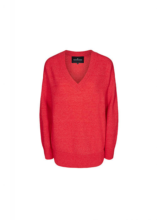 DESIGNERS REMIX RED V-NECK KNIT