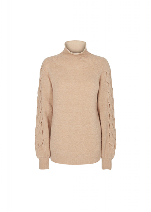 DESIGNERS REMIX CAMEL CABLE KNIT
