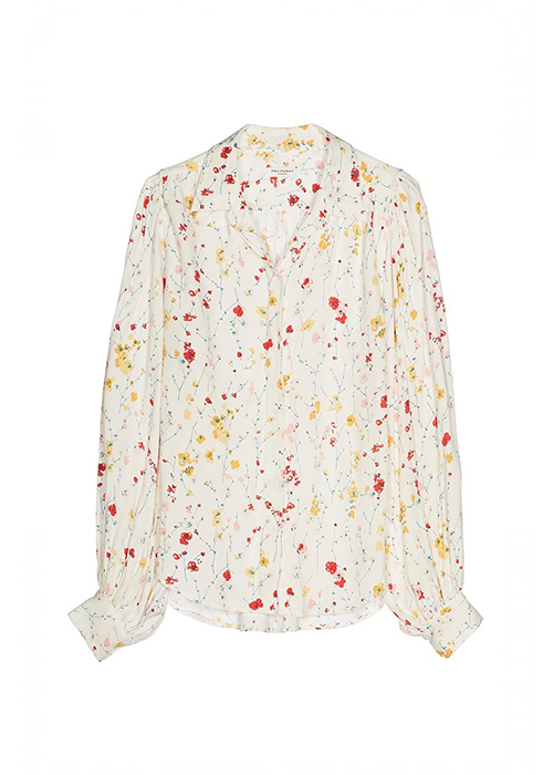 EQUIPMENT WHITE FLOWER BLOUSE