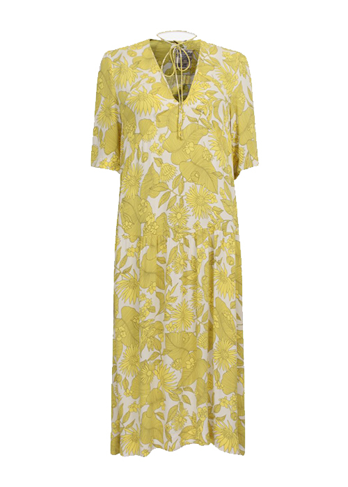 BAUM UND PFERDGARTEN YELLOW PRINTED DRESS