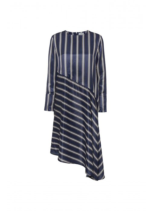 NORR NAVY STRIPED DRESS