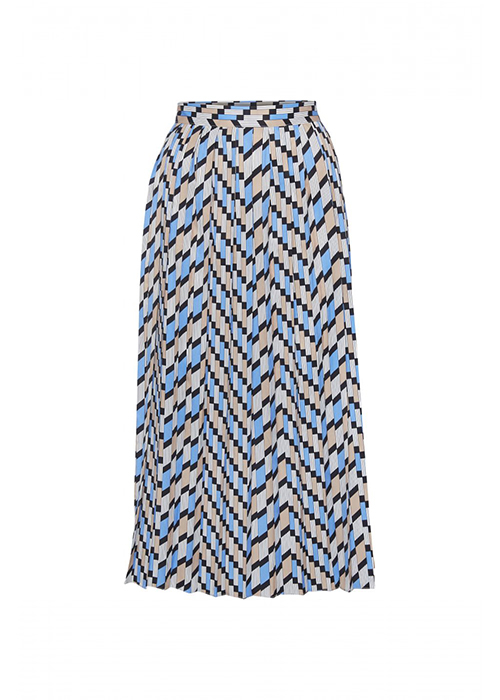 NORR BLUE PRINTED SKIRT