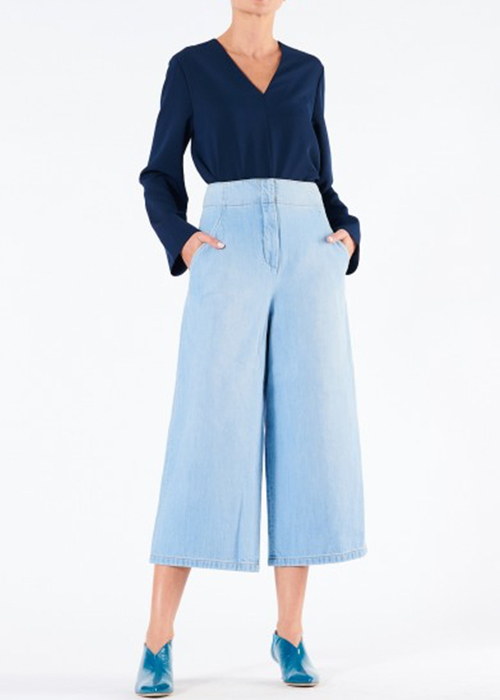 TIBI BLUE CROPPED JEANS