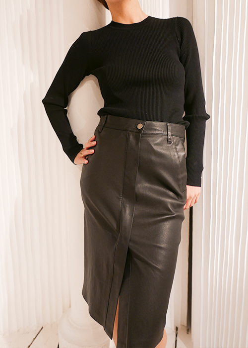 ENES BLACK PENCIL SKIRT