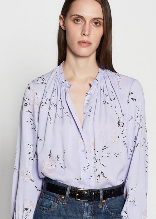 EQUIPMENT LILA FLOWER BLOUSE
