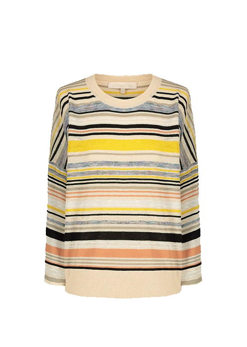 VANESSA BRUNO YELLOW STRIPED SWEATER