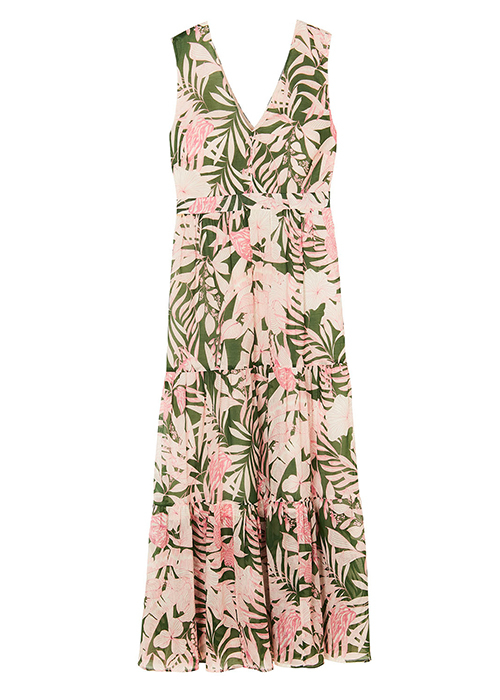 PAUL & JOE GREEN PRINTED DRESS
