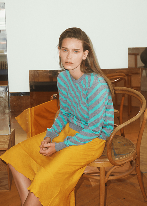 GRAUMANN AQUA STRIPED PULLOVER