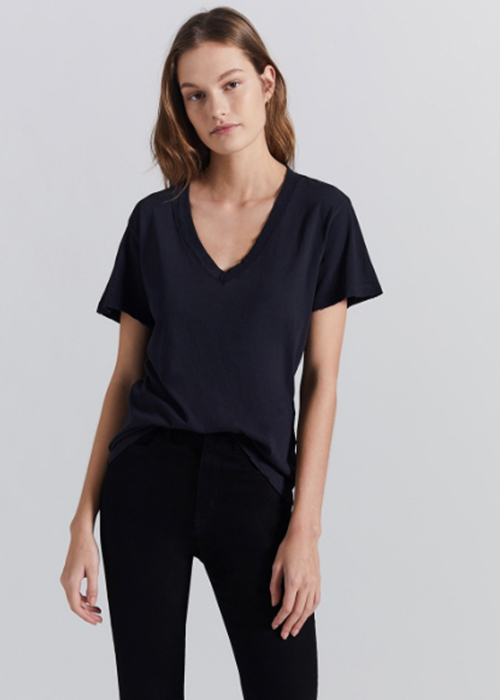 CURRENT ELLIOTT PERFECT V TSHIRT BLACK