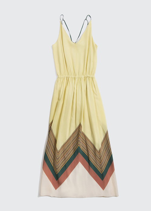 ALYSI YELLOW STRIPED DRESS