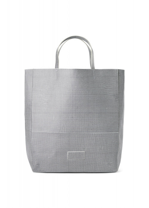 DESIGNERS REMIX CHECKED LARGE TOTE BAG