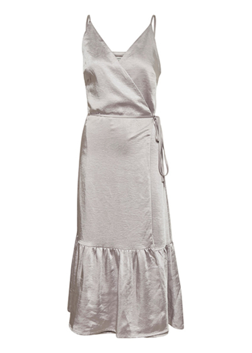 GESTUZ SILVER WRAP DRESS