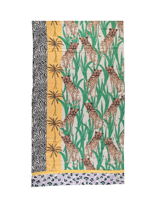 BIRDS ON THE RUN LEOPARD BEACHTOWEL
