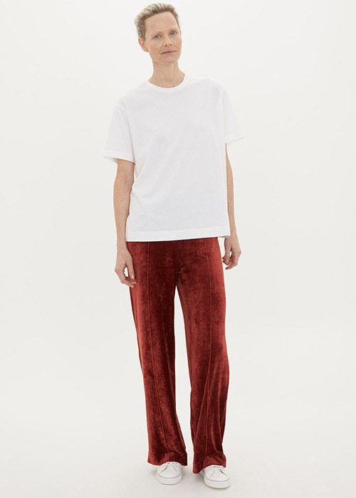 BY MALENE BIRGER RED VELVET PANTS