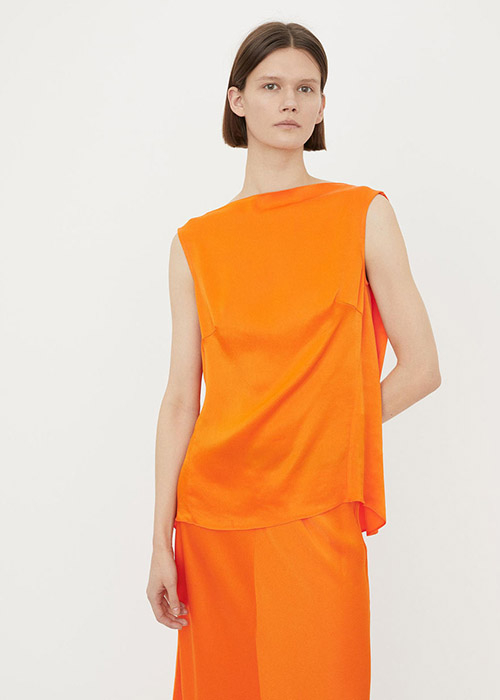 BY MALENE BIRGER ORANGE SILK TOP