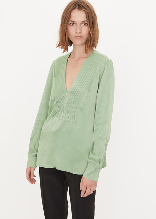 BY MALENE BIRGER GREEN BLOUSE