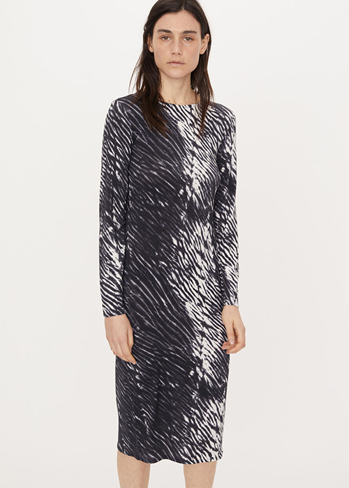 BY MALENE BIRGER BLACK PRINTED DRESS