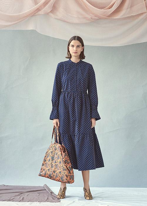 BAUM UND PFERDGARTEN BLUE DOTTED DRESS