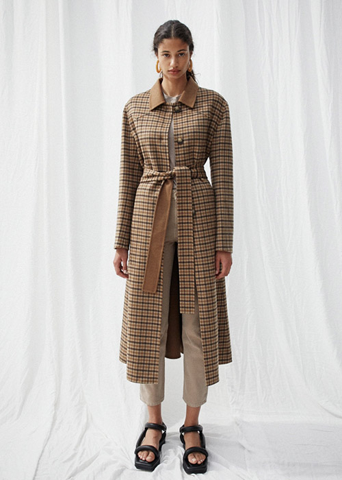 NANUSHKA CHECKED COAT