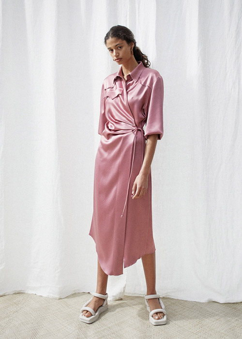 NANUSHKA PINK SATIN DRESS