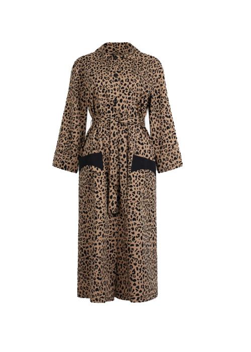 BAUM UND PFERDGARTEN LEOPARD KIMONO DRESS