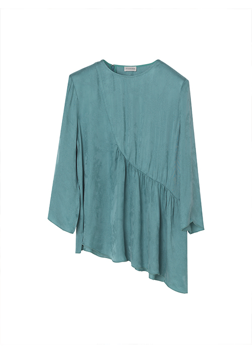 BY MALENE BIRGER LIGHT GREEN BLOUSE