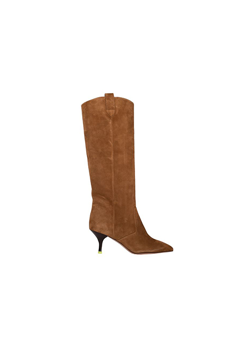 MOROBE SUEDE KNEE BOOTS