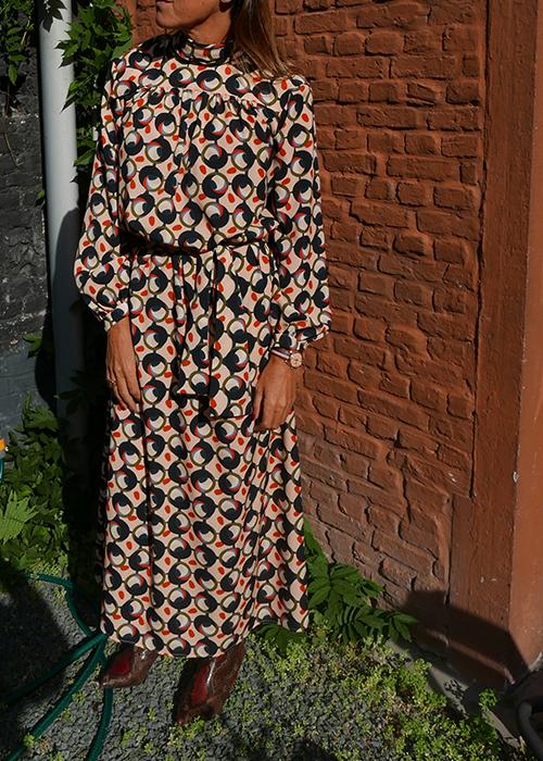 BRIAN DALES LONG PRINTED DRESS