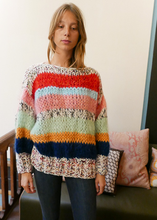 EWITHLOVE STRIPED KNIT