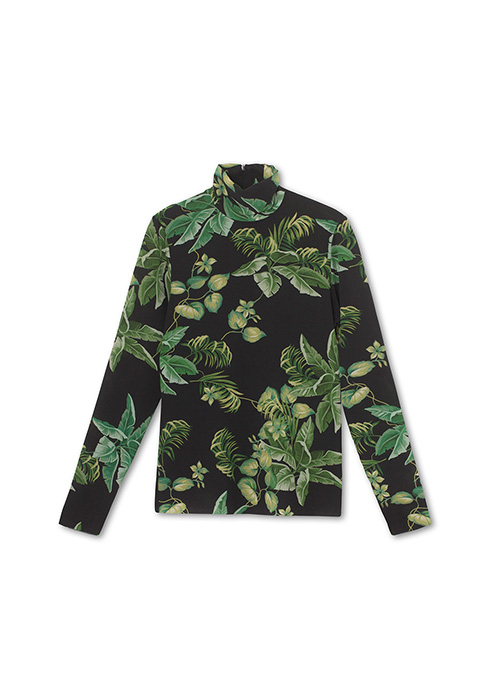 GRAUMANN PRINTED TURTLENECK TOP
