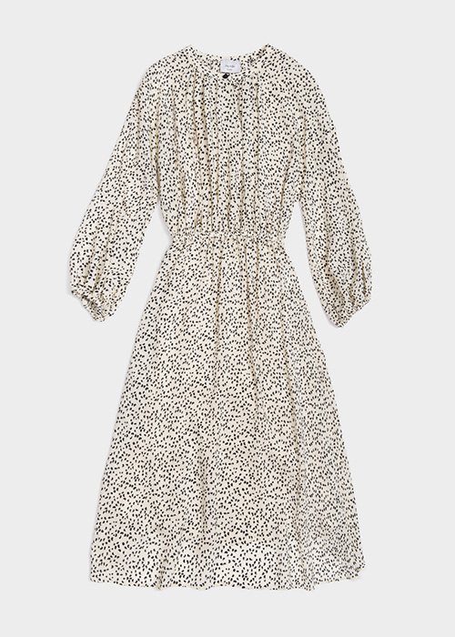 ALYSI OFFWHITE PRINTED DRESS