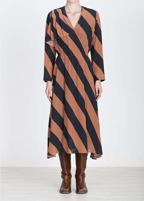 ALYSI STRIPED DRESS