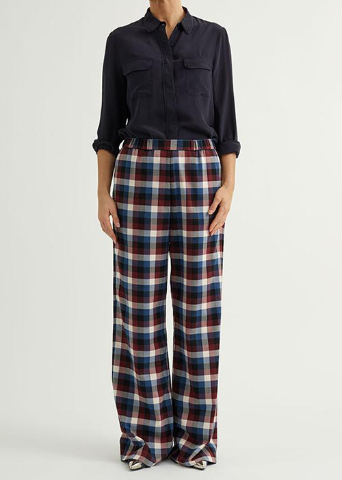 CUSTOMMADE CHECKED PANTS