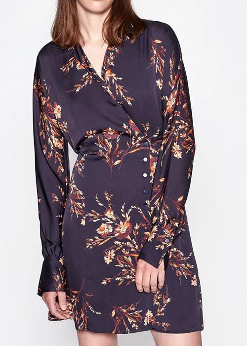 EQUIPMENT SHORT PRINTED DRESS