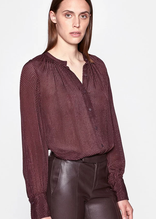 EQUIPMENT BURGUNDY BLOUSE