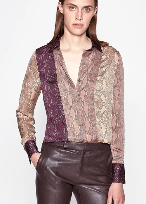 EQUIPMENT SILK PRINTED BLOUSE