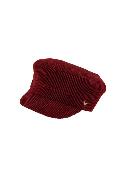 BIRDS ON THE RUN BURGUNDY CAP