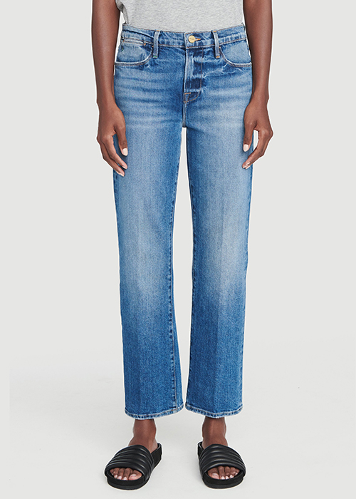 FRAME BLUE HIGH STRAIGHT JEANS