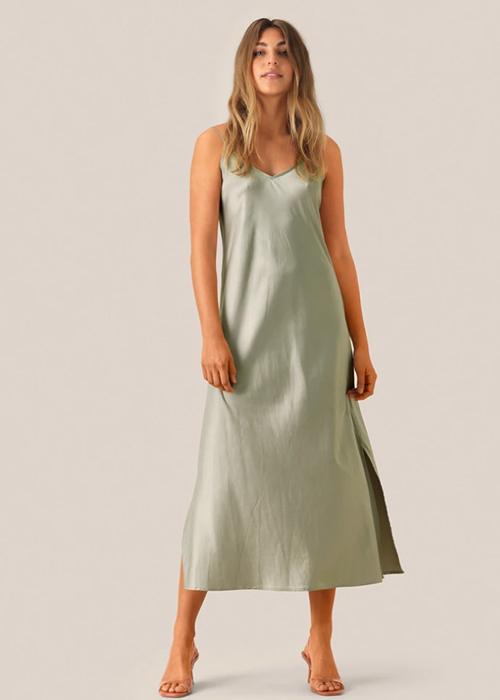 SECOND FEMALE SILK GREEN DRESS
