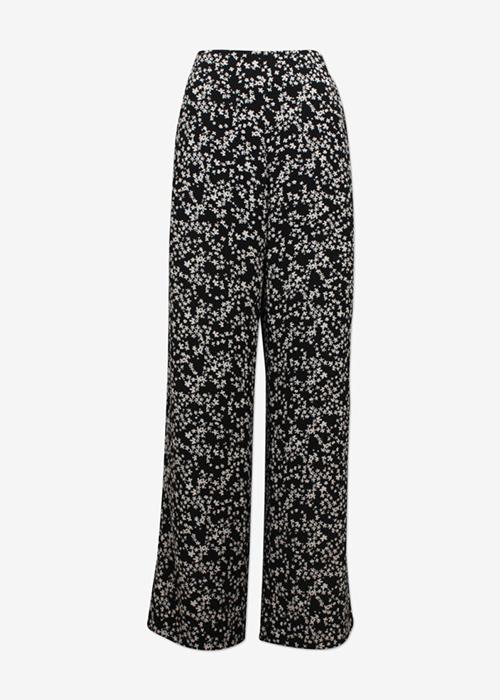 BAUM UND PFERDGARTEN BLACK FLOWER PANTS