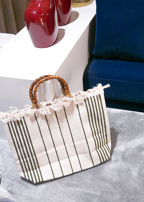 MILANESA KAKI STRIPED BAG
