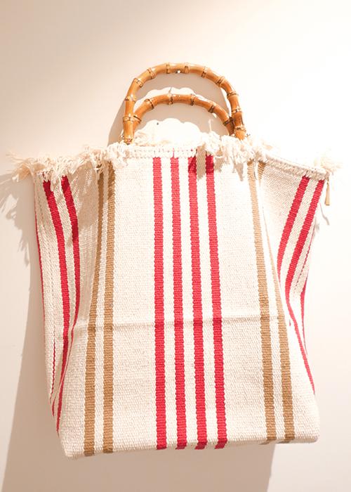 MILANESA SMALL STRIPED BAG
