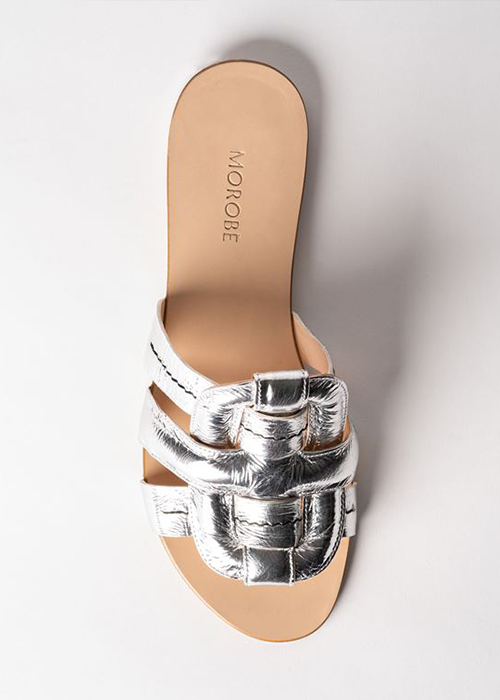 MOROBE SILVER SANDALS