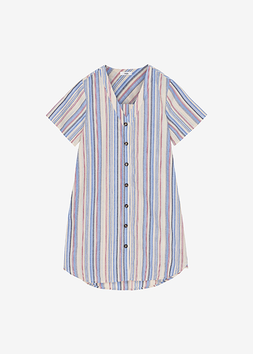 IBEN BLUE STRIPED DRESS