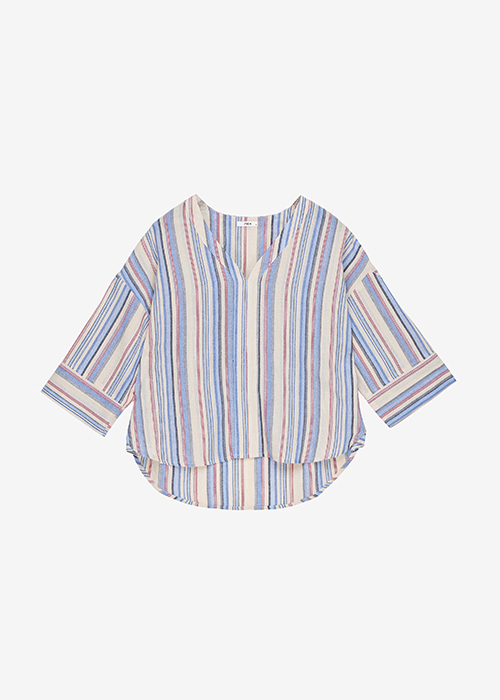 IBEN BLUE STRIPED BLOUSE