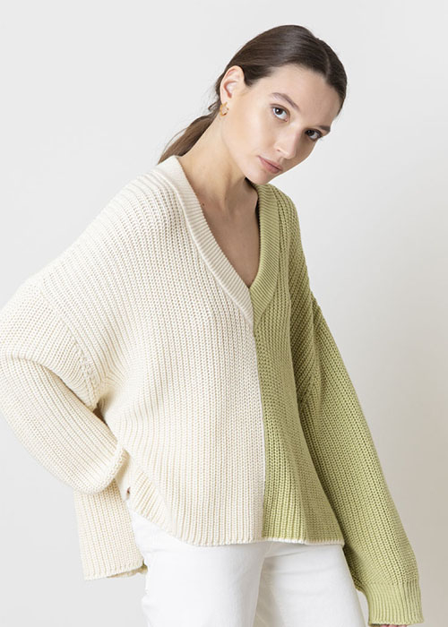 VALENTINE WITMEUR OVERSIZED GREEN KNIT
