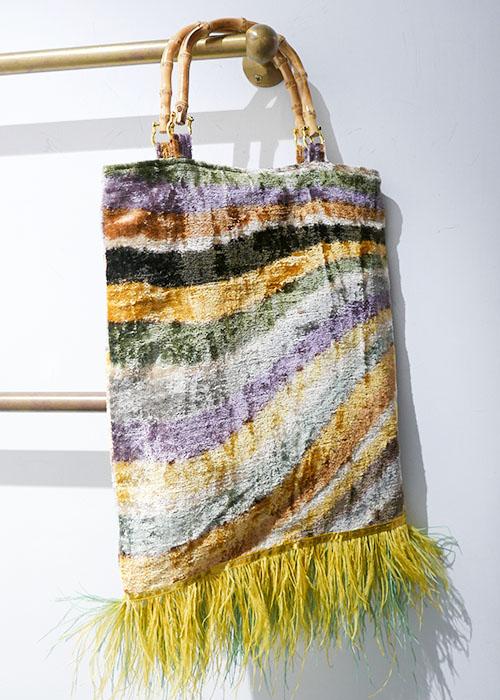 MILANESA GREEN/YELLOW PRINTED BAG
