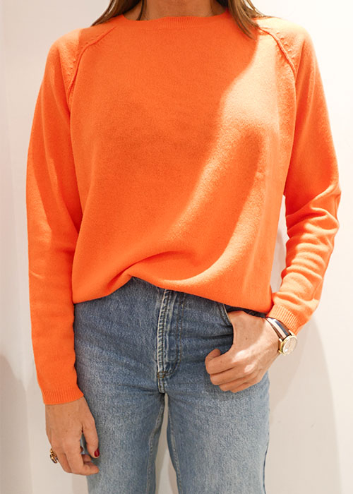 JUMPER1234 ORANGE KNIT