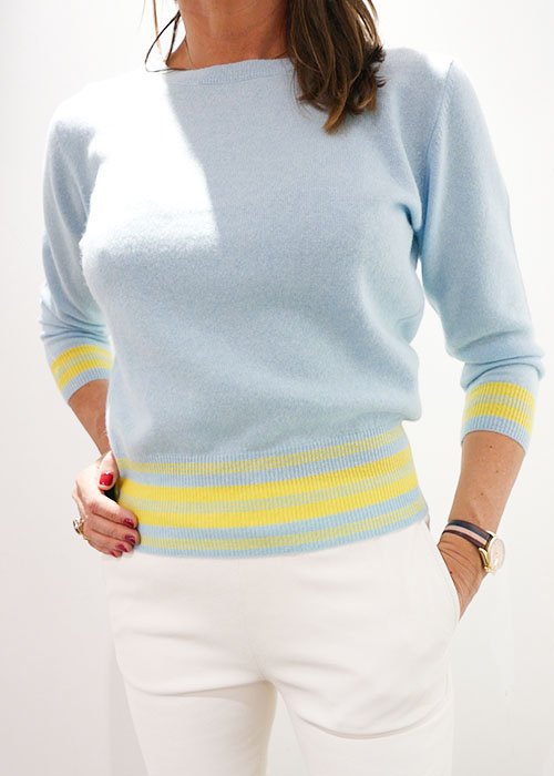 JUMPER1234 LIGHT BLUE KNIT