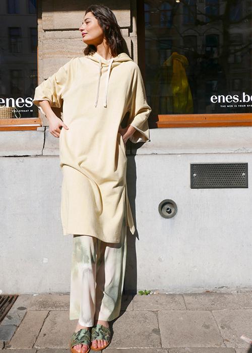 AERON YELLOW SWEATER DRESS